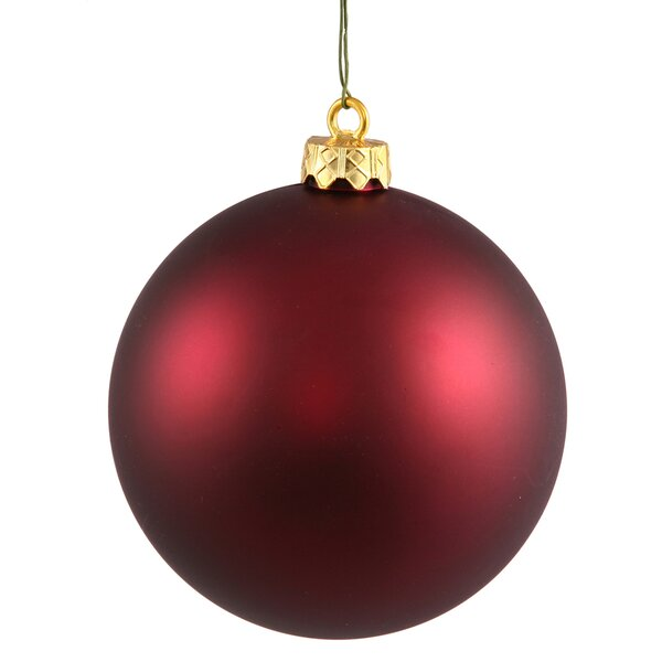 Christmas Ball Ornament with Cap (Set of 4) by The Holiday Aisle