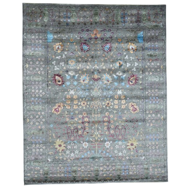 One-of-a-Kind Crafts Hand-Knotted Gray Area Rug by Bloomsbury Market