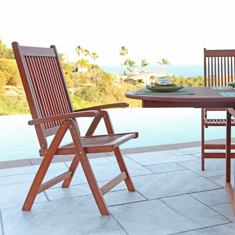 Vista Folding Patio Dining Chair