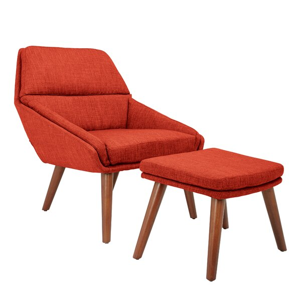 Gaona Lounge Chair and Ottoman by George Oliver