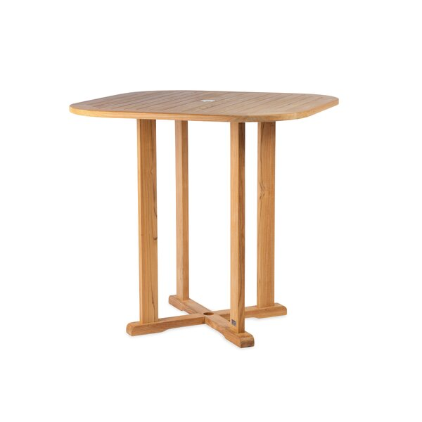 Myers Solid Wood Bar Table by Bloomsbury Market
