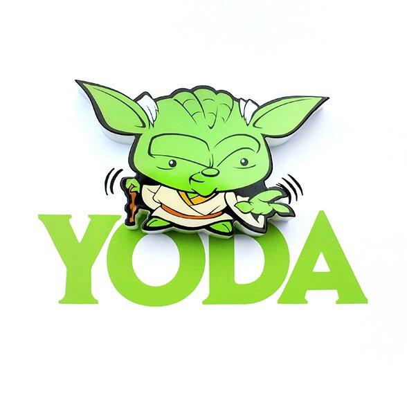 3D Yoda Mini Deco 2-Light Night Light by 3D Light FX