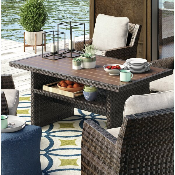 Tequesta Wicker Dining Table by Bay Isle Home