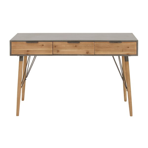 Review Berkman Wood And Metal Console Table