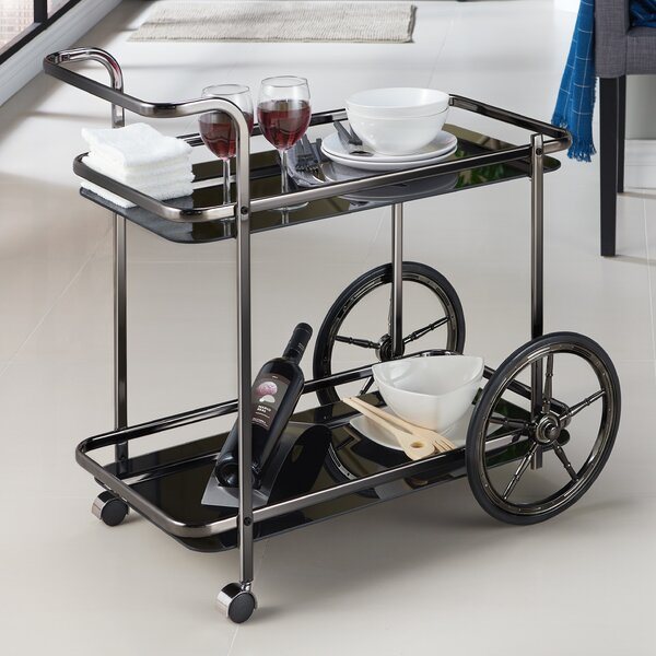 Camillei Contemporary Kitchen Bar Cart by 17 Stories