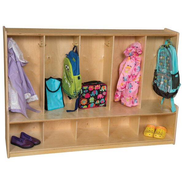 Contender 5 Wide Kids Locker by Wood Designs