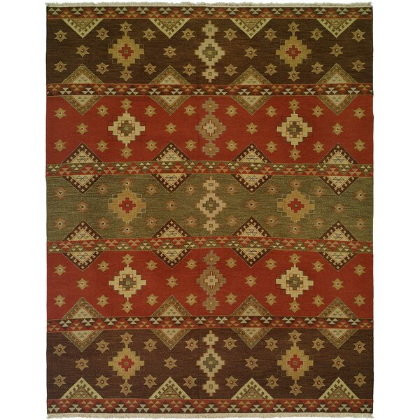 Jinzhou Hand-Woven Red/Brown Area Rug by Wildon Home ®