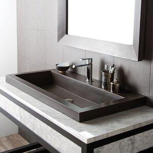 Trough Sink Bathroom | Bathroom Double Trough Sink Wayfair