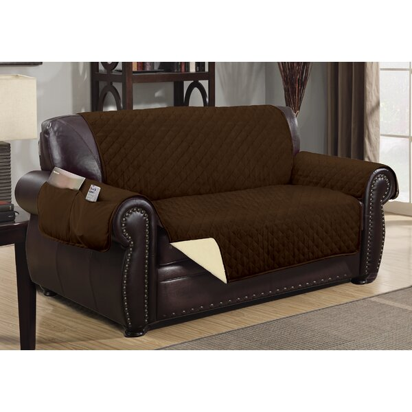 Deluxe Hotel Box Cushion Loveseat Slipcover by Winston Porter