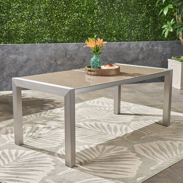 Phyllida Glass Dining Table by Ivy Bronx