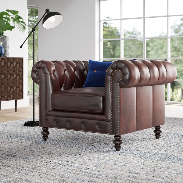 Brooklyn 21.5 inch Chesterfield Chair by Mistana