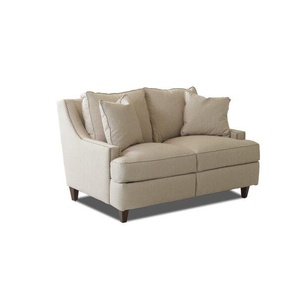 Tricia Power Hybrid Reclining Loveseat by Wayfair Custom Upholstery™