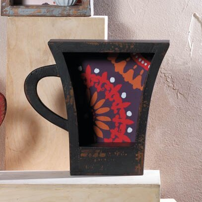 Dark Coffee Cup Shelf by Zingz & Thingz