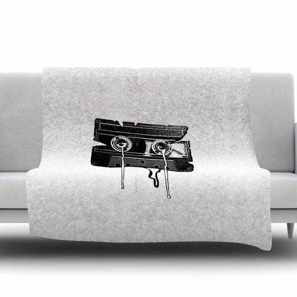 Cassette Memories by BarmalisiRTB Fleece Blanket by East Urban Home