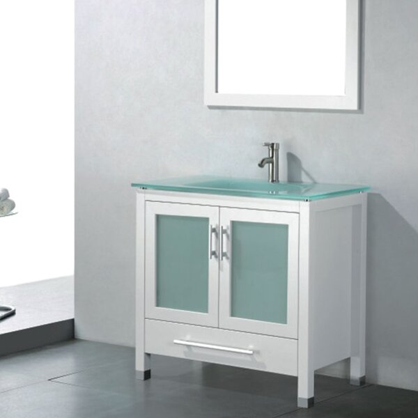 Amara 36 Single Bathroom Vanity Set with Mirror by Adornus