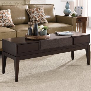 Coupon Crandell 2 Drawer Coffee Table with Storage By George Oliver
