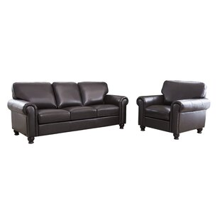 Coggins Leather 2 Piece Living Room Set by DarHome Co