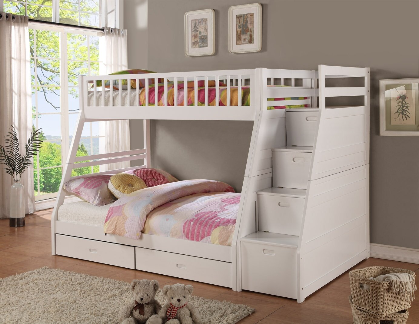 Viv Rae Pierre Twin Over Full Bunk Bed With Drawers Reviews