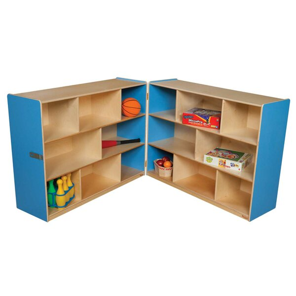 Folding 8 Compartment Shelving Unit by Wood Designs