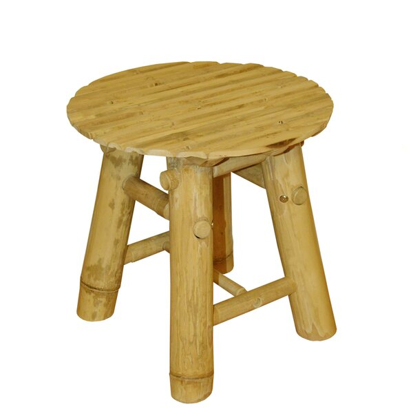 Bamboo Hand Crafted Low Stool by ZEW Inc
