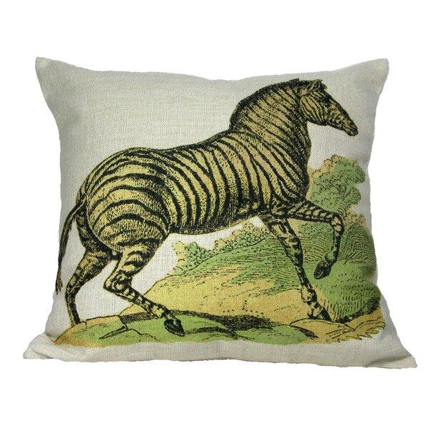 Zebra Throw Pillow by Golden Hill Studio