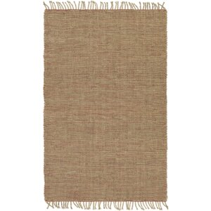 Mahaffey Hand-Woven Rust/Khaki Area Rug