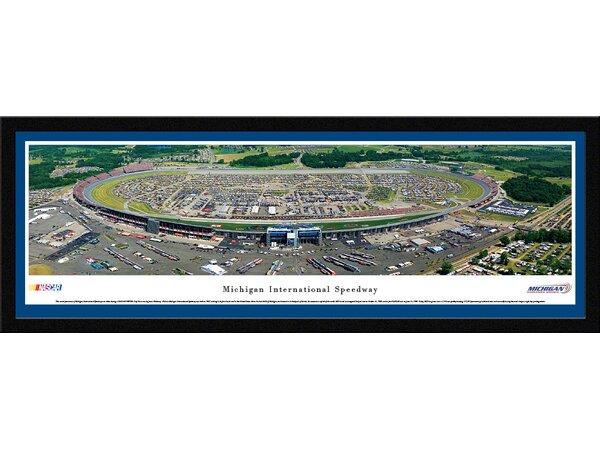 NASCAR Michigan International Speedway by James Blakeway Framed Photographic Print by Blakeway Worldwide Panoramas, Inc