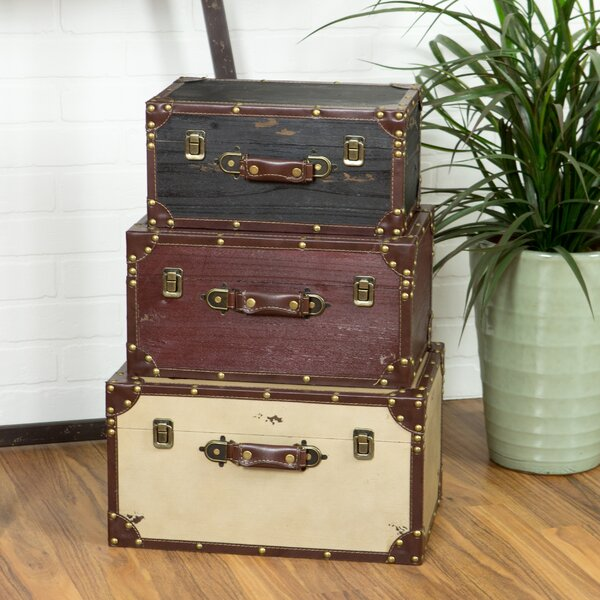 Lucasville 3 Piece Trunk Set by Three Posts