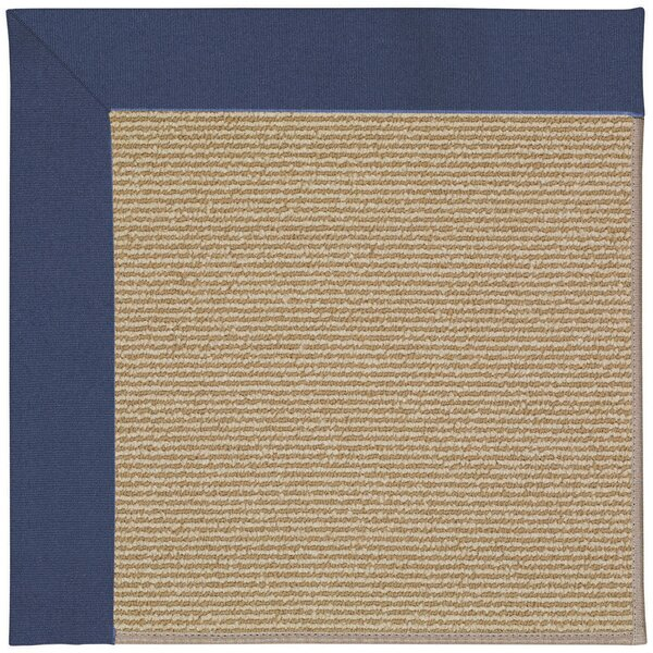 Lisle Machine Tufted Blue/Brown Indoor/Outdoor Area Rug by Longshore Tides