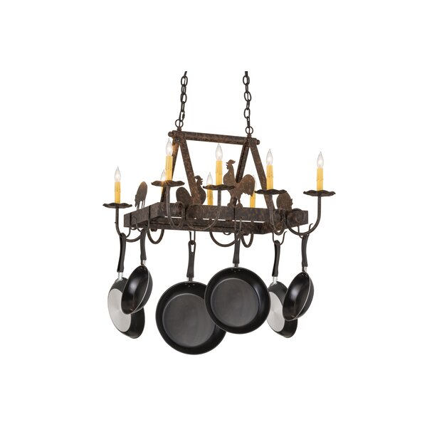 Greenbriar Oak Barn Animals Pot Rack by Meyda Tiffany