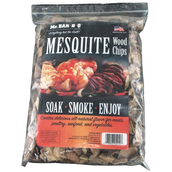 2 Piece Mesquite Wood Smoking Chips Set by Mr. Bar-B-Q