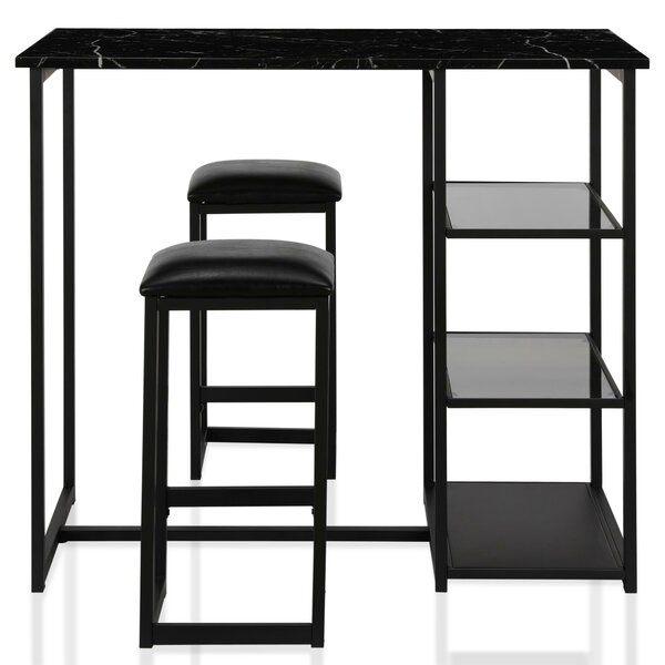 Emelie 3 Piece Counter Height Dining Set by CosmoLiving by Cosmopolitan CosmoLiving by Cosmopolitan