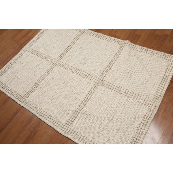 Petrucci Flat Pile Beige Area Rug by Union Rustic