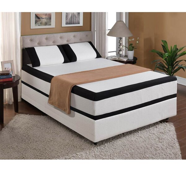 Dickinson 12 Plush Gel Memory Foam Mattress by The Twillery Co.