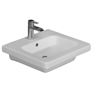 Check Prices Resort 550 Vitreous China 22 Wall Mount Bathroom Sink By Barclay