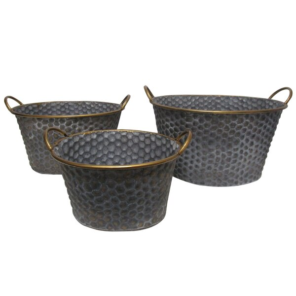 Secena 3 Piece Wood Pot Planter Set by A&B Home