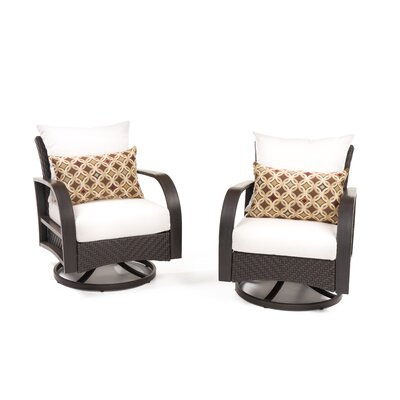Sol 72 Outdoor Swivel Patio Chair Sunbrella Cushions Cushion Color Lounge Seating Chairs