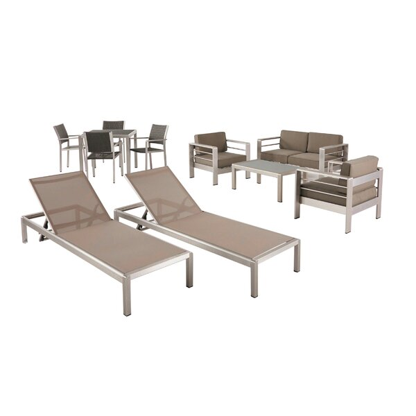 Smartt 11 Piece Complete Patio Set with Cushions by Orren Ellis