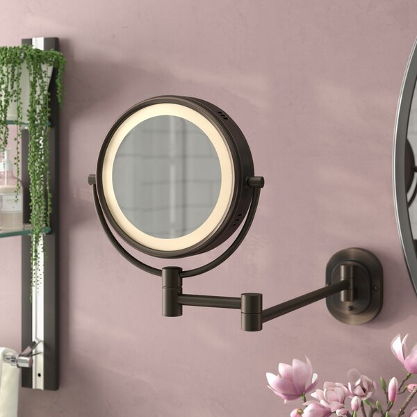 Lighted Wall Mount Makeup/Shaving Mirror by Symple Stuff