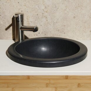 Reviews Lime Stone Circular Drop-In Bathroom Sink By Allstone Group