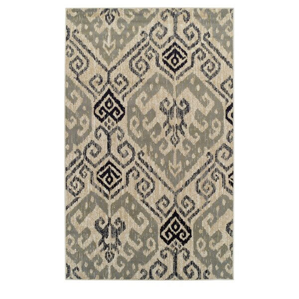 Callicoon Damask Beige Area Rug by Charlton Home