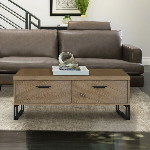 Crossville Sled Coffee Table With Storage By Foundry Select