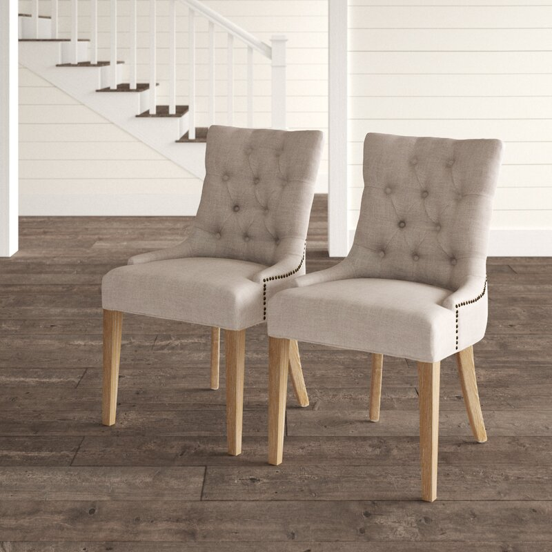 Daugherty Tufted Upholstered Side Chair In Gray Reviews