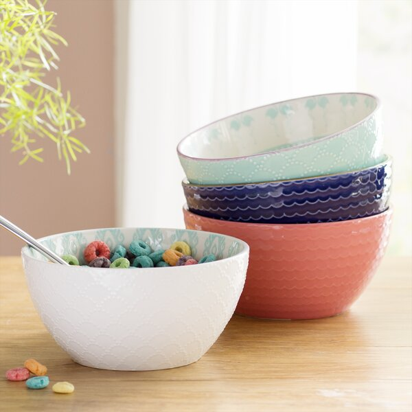Wellford 28 oz. 4 Piece Dining Bowl Set by Mint Pantry