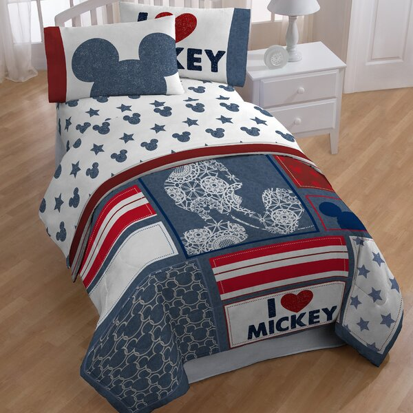 Mickey Twin 4 Piece Toddler Bedding Set by Disney