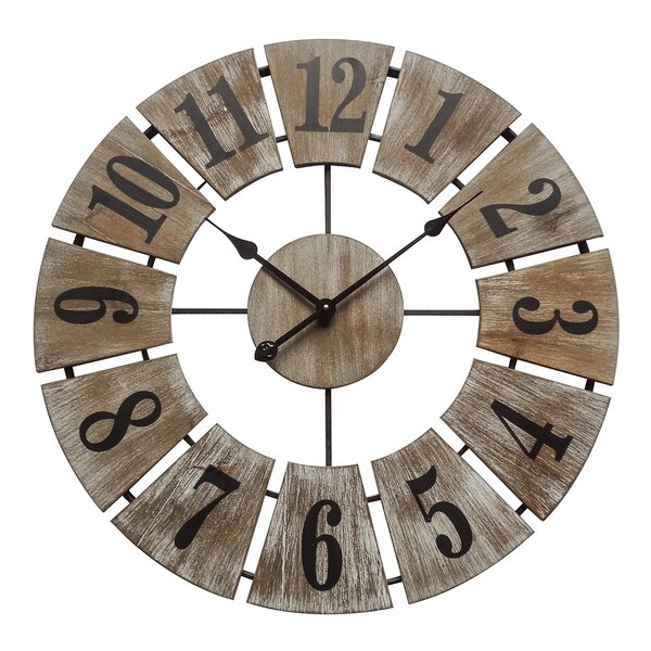 Oversized Teegarden Rustic Charm 26.8 Wall Clock by Union Rustic