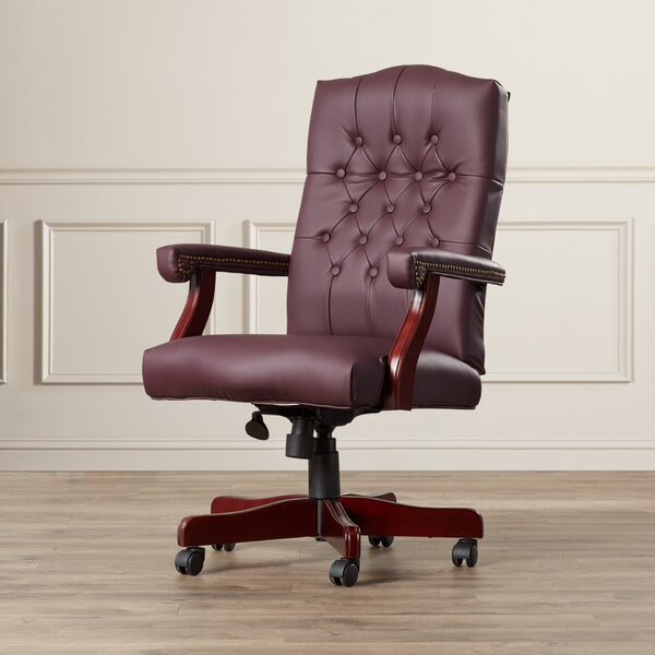 Kirkland High-Back Leather Executive Chair by Alcott Hill