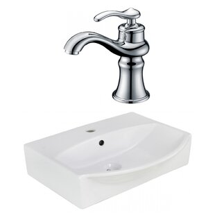 Reviews Xena Farmhouse Ceramic 19.5 Bathroom Sink with Faucet and Overflow ByRoyal Purple Bath Kitchen