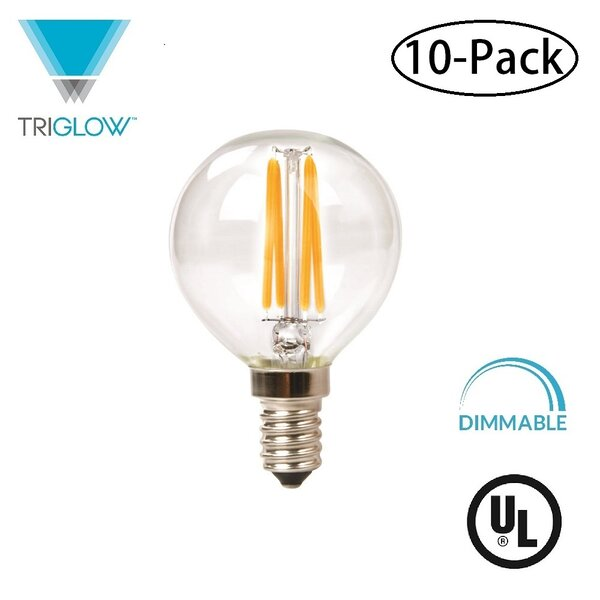 25W Equivalent E12 LED Globe Light Bulb (Set of 10) by TriGlow