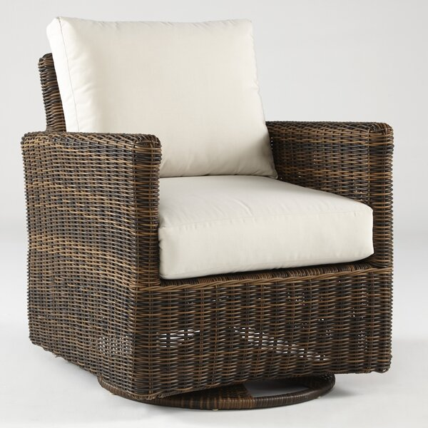 Wilkinson Swivel Glider Chair with Cushions by Charlton Home